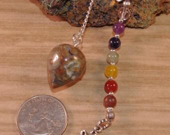 Dowsing Pendulum Chakra Jasper Celtic Knot OOAK Divination New Age Magick Pagan Witchy Wicca 15105p