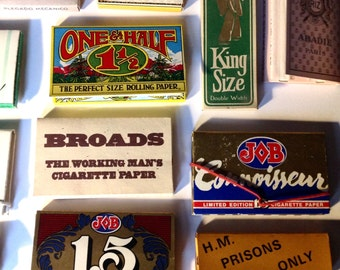 Vintage lot rolling papers Wheetstraw Smoking Foy 2 in 1 Rizla Broads smoking display