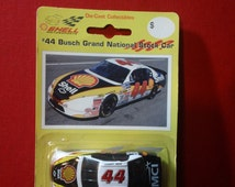 Vintage 1996 Shell Motorsports #44 Busch Grand National Stock Car ~ 1:64 scale die-cast toy car by EPI Sports Collectibles