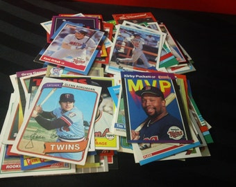 Vintage Baseball Cards - 100 different Minnesota Twins (1980-93)