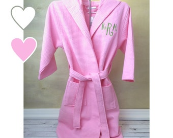 Kids Robes, Kids Bathrobe, Flower Girl Robe, Waffle Weave Robe, Wedding Robes, Jr Bridesmaid Gifts, Flower Girl Gifts,