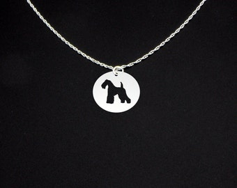 Kerry Blue Terrier Necklace - Kerry Blue Terrier Jewelry - Kerry Blue Terrier Gift