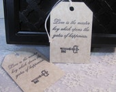 Love is the Master Key  Wish Tree Wedding Tags 50