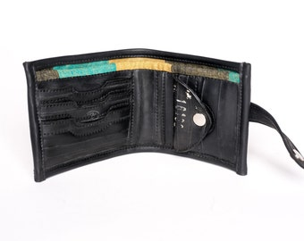 Recycled Bike Tube Wallet - Fully lined with coin pocket