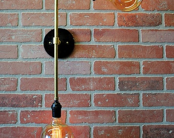 Designer Wall Sconce- Double Wall Light - Modern Wall Sconce - Ceiling Light, Industrial Wall Sconce