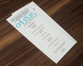 Modern Wedding Program - Ampersand