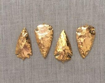 Gold Arrowhead, Arrowhead Pendant, Gold Arrowhead Pendant