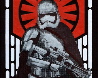 Star Wars Captain Phasma Handpulled Silkscreen Print