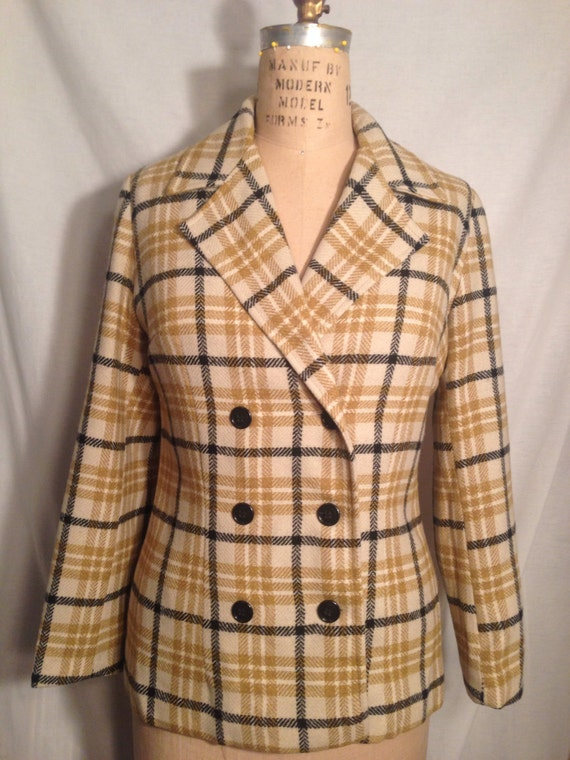 Vintage Douglas Marc Misses Plaid Jacket c4