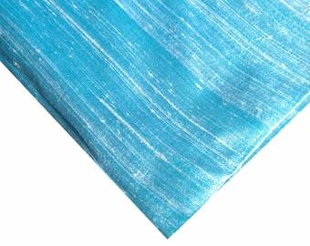 Indian Silk Fabric - Pure Silk Dupioni - Raw Mulberry Silk - Sky Blue Raw Silk - Indian Dupioni Silk -Dupioni Silk