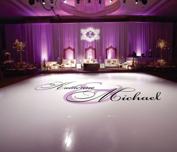 The wedding venues inn 2 weddings dance floor decal wedding wedding floor monogram vinyl floor decals wedding decor solutioingenieria Images