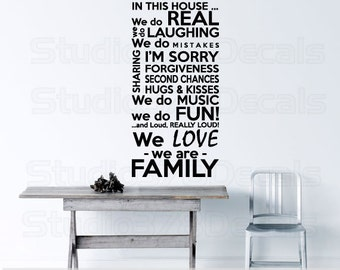 Family Rules Vinyl Wall Decal | In This House We Do | Subway Art | Family House Rules | Family Decal | Vinyl Lettering | 18x36