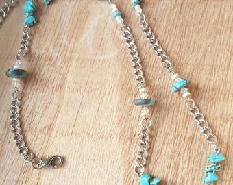 Turquoise Necklace, Southwestern Jewelry, Turquoise Eagle Pendant, Spirit Animal Necklace