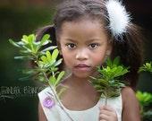Pink Garden Dress -  Wedding - Handmade Organza Flower Appliques - Family Photo Prop - Toddler Clothing - Newborn Gift  - 3M to 4T