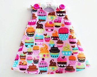 Cupcakes Party Dress - Infant Girls - 1st Birthday - Girl Party - Girls Dress - Sweet Treat - Children Outfit - Baby Shower - Birthday Theme