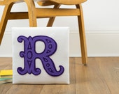Letter art - Initial wall art - Appliqué felt art - Personalised gift - Custom initial - Custom gift - Initial textile art - Felt art