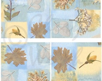 Tile decal stickers 4x4 or 6x6 wall Nature art