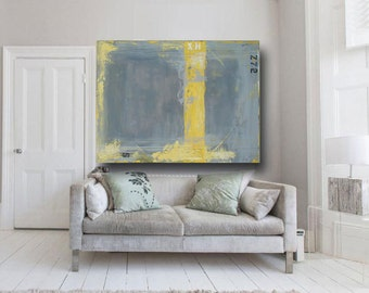 Large Abstract Painting Original Acrylic Interior Design Living Room Decor interior art home decor wall art Gray Painting by  Cheryl Wasilow