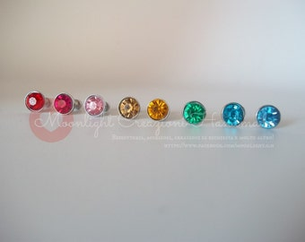 Crystal Anti-Dust Plug for cell phone 3.5mm assorted colors