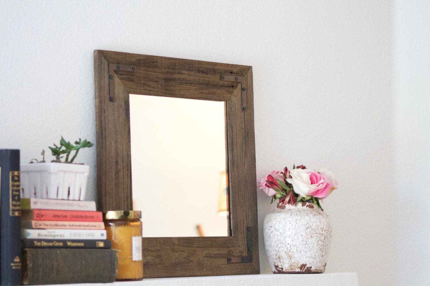 reclaimed wood mirror framed mirror bathroom by hurdandhoney 15214