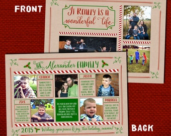 Year In Review Christmas Card - Wonderful Life (Digital OR Printed)
