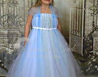 Once Upon A Time - Rapunzel - Flower Girl - Tutu Dress size 12-18m, 2t, 3t, 4t, 5t, 6 girls