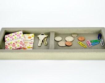 SALE! Concrete Valet Tray / Catchall Tray / Office Organization / Pocket Dump Tray / Key Tray