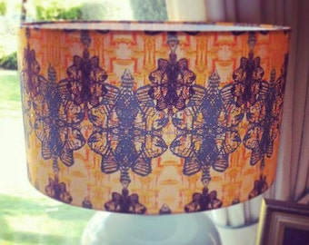 Lobster Fabric Lampshade
