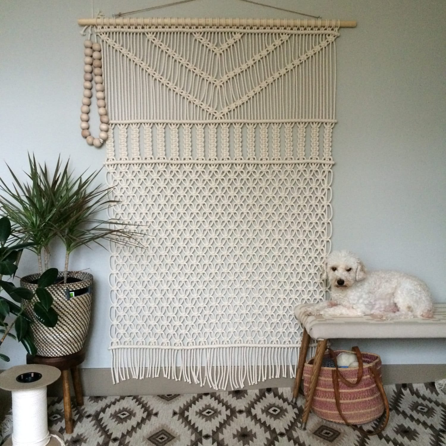 Macrame wall hanging large forest for Wall hanging