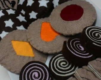 Sweet Italian Felt, biscotti, cookies, dolci finti, feltro, pastry felt, Felt biscuits ,Italian biscuits, READY TO SHIP, etsyitaliateam