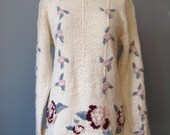 Embroidered Sweater / Vtg...