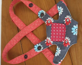 Cloth Baby Doll Carrier, Doll Carrier, Childs Doll Carrier, Red and Blue Doll Carrier, OhSewCuteByMel