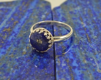 Lapis Lazuli And Sterling Ring