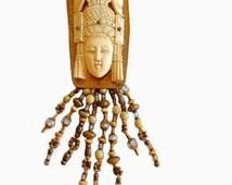 David Navarro Goddess Brooch Original Designer Vintage Bohemian Jewelry