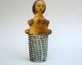 Ceramic Sculpture , Art and Collectibles , Primitive Figure , Female Figurine