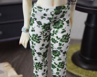 1/4 doll ~ Green leaves leggings | BJD (40/43 cm)
