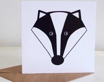 Fun Badger Greetings Card