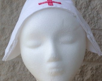 Spotted Red Cross Nurse Hat