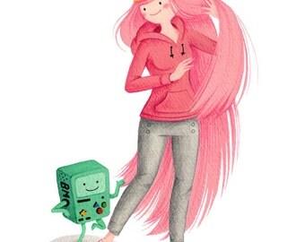 Adventure Time - Princess Bubblegum - open edition art print