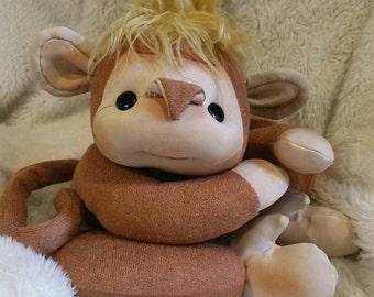 Soft sculpture Baby Monkey Boy