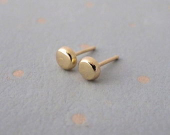 Gold Stud Earrings, Small Gold Stud Earrings
