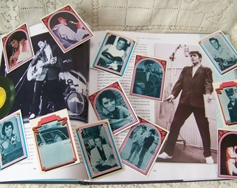Vintage Elvis Cards 1978 (lot of 12) Boxcar Enterprises Cards.Vintage Elvis Presley Bubble Gum Cards.The King of Rock and Roll.Elvis Gift.