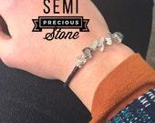 SALE Quartz Crystal Charm Bracelet (005G)
