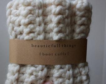 Boot Cuffs for Women in Cream / The Waverlie Cuffs