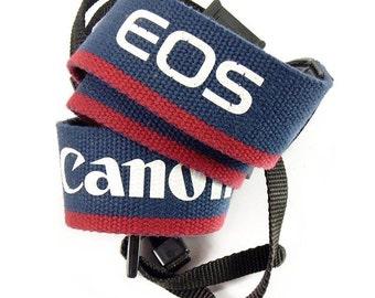 Original Vintage Canon EOS Blue SLR Film Camera Carry Strap