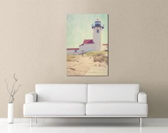 Lighthouse Print, Eastern Point Lighthouse, Whimsical, Bokeh, Cape Ann, New England, Photograph