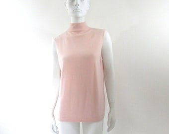 Pink Cashmere Turtleneck Sweater by Ellen Tracy