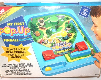 Vintage 1992 Tyco Toys, My First Pop Up Pinball Fairytales, Antique Alchemy