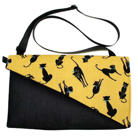 Cats, Yellow, Messenger bag, cross body bag