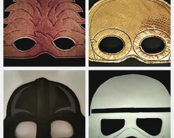 Child's Mask - Star Wars - Darth Vader - Storm Trooper - C3PO - Chewbacca